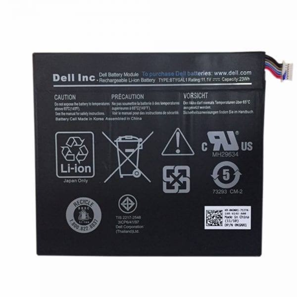 Genuine Tablet battery for DELL TO3G