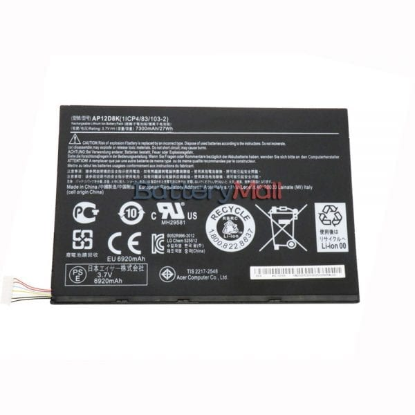 Genuine Tablet battery for ACER ICONIA A3-A10