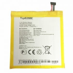 Genuine cell phone battery TLP025DC for Alcatel