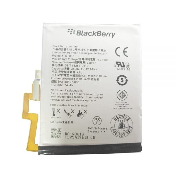 Genuine cell phone battery OTWL1 for Blackberry Passport Q30